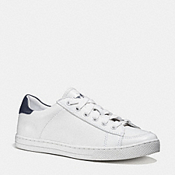COACH Q9101 Porter Lo Top Sneaker WHITE/MIDNIGHT NAVY