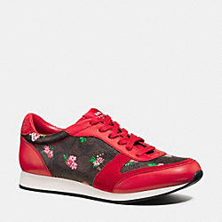 COACH Q9102 Rebecca Sneaker PINK/BRIGHT RED