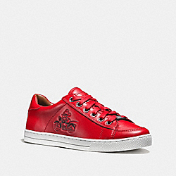 COACH Q9146 - PORTER LACE UP BRIGHT RED