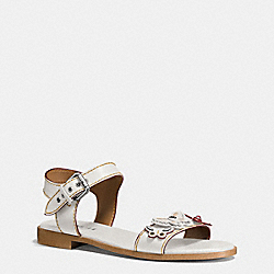 COACH ABBY SANDAL - CHALK - Q9147