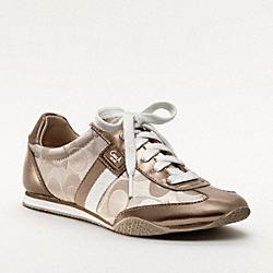 COACH Q986 Kinsley Sneaker KHAKI GOLD MTI/BRONZE