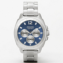 COACH W1001 Boyfriend Stainless Steel Color Dial Bracelet Watch BLUE