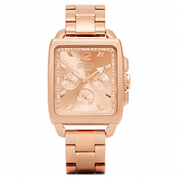 COACH W1007 Boyfriend Square Rosegold Bracelet Watch