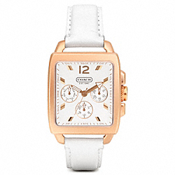 COACH W1009 - BOYFRIEND SQUARE ROSEGOLD STRAP ONE-COLOR