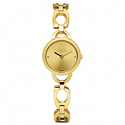 COACH W1016 Kristin Gold Plated Bracelet Watch