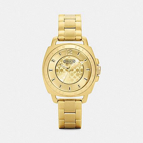 COACH MINI BOYFRIEND GOLD PLATED BRACELET WATCH -  GOLD PLATED - w1043
