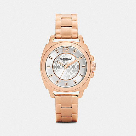 COACH MINI BOYFRIEND ROSE GOLD PLATED BRACELET WATCH -  ROSEGOLD - w1044