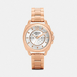 COACH W1044 - MINI BOYFRIEND ROSE GOLD PLATED BRACELET WATCH  ROSEGOLD
