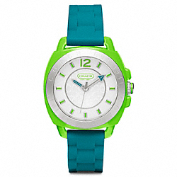 COACH W1051 Boyfriend Rubber Colorblock Strap Watch