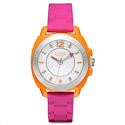 COACH W1051 - BOYFRIEND RUBBER COLORBLOCK STRAP ONE-COLOR