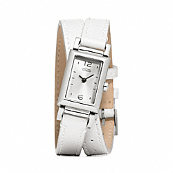 COACH W1092 - MADISON STAINLESS STEEL WRAP STRAP WATCH  WHITE