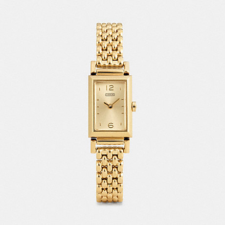 COACH W1095 MADISON GOLD PLATED BRACELET WATCH ONE-COLOR