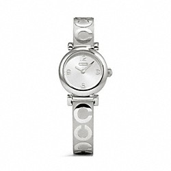 COACH W1156 - MADISON STAINLESS STEEL SIGNATURE BANGLE WATCH ONE-COLOR