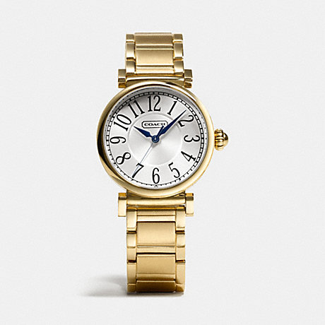 COACH MADISON GOLD PLATED BRACELET WATCH -  GOLD PLATED - w1164