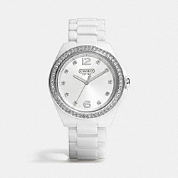 COACH W1181 Tristen Ceramic Bracelet Watch WHITE