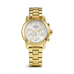 COACH W1186 Sport Gold Plated Bracelet Watch GOLD PLATED