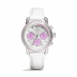 COACH W1189 - SPORT STAINLESS STEEL STRAP WATCH WHITE