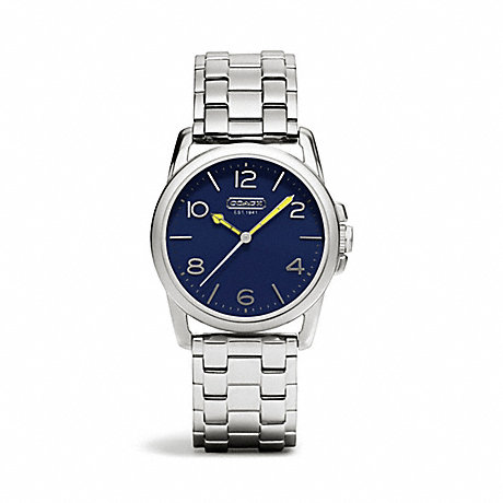 COACH w1190 SYDNEY STAINLESS STEEL BRACELET WATCH NAVY