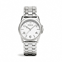 COACH W1190 Sydney Stainless Steel Bracelet Watch WHITE