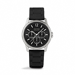 COACH W1204 - CLASSIC SIGNATURE SPORT STAINLESS STEEL RUBBER STRAP BLACK