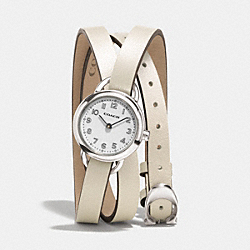 COACH W1287 - DREE STAINLESS STEEL WRAP WATCH IVORY