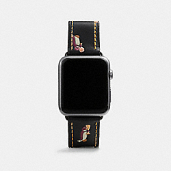COACH W1297+BLC++WMN Apple Watch® Strap With Prints BLACK MULTI