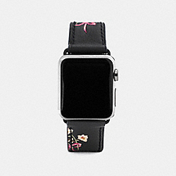 COACH W1297+BLK++WMN - APPLE WATCH® STRAP WITH PRINTS BLACK