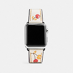 COACH W1297+CAH++WMN - APPLE WATCH® STRAP WITH PRINTS CHALK MULTI
