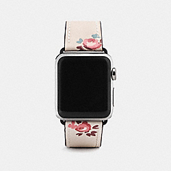 COACH W1297+CUF++WMN - APPLE WATCH® STRAP WITH PRINTS SILVER/CHALK