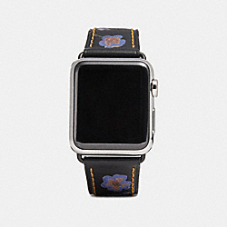 COACH W1297+LI8++WMN - APPLE WATCH® STRAP WITH PRINTS BLACK FLORAL