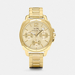 COACH W1359 Boyfriend Small Gold Plated Multifunction Bracelet Watch GOLD PLATED