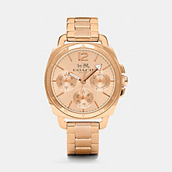 COACH W1360 - BOYFRIEND SMALL ROSE GOLD PLATED MULTIFUNCTION BRACELET WATCH ROSEGOLD