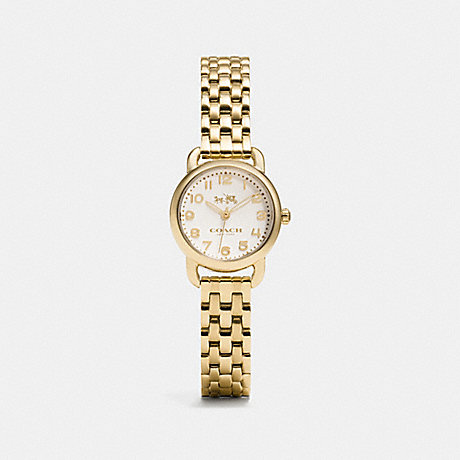 COACH W1407 DELANCEY SMALL GOLD PLATED BRACELET WATCH GOLD-PLATED