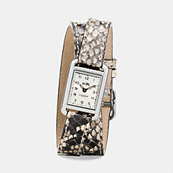COACH W1470 - THOMPSON EXOTIC DOUBLE WRAP WATCH NATURAL