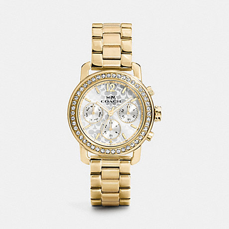 COACH W1483 LEGACY SPORT GOLD PLATED BRACELET WATCH GOLD
