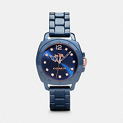 COACH W1498 Boyfriend 34mm Ceramic Bracelet Watch NAVY