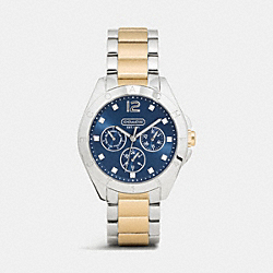 COACH W1500 - TRISTEN COLOR DIAL TWO TONE BRACELET WATCH DBL