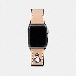 COACH W1541+EQO++WMN Apple Watch® Strap With Sharky BEECHWOOD