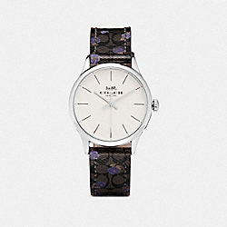 COACH W1546 - RUBY WATCH, 32MM MAHOGANY/PURPLE/SILVER