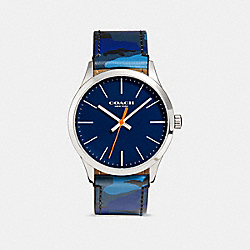 COACH BAXTER WATCH, 39MM - BLUE CAMO - W1547