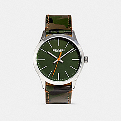 COACH W1547 Baxter Watch, 39mm GREEN CAMO
