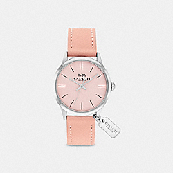 COACH W1549 Ruby Leather Strap Watch BLUSH