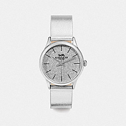 COACH W1549 Ruby Watch, 32mm METALLIC SILVER