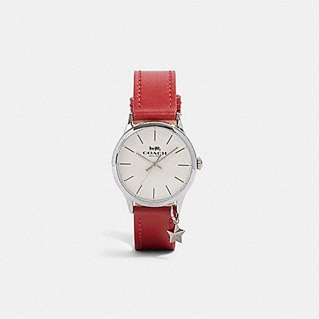 COACH W1549 RUBY WATCH, 32MM RED/WHITE