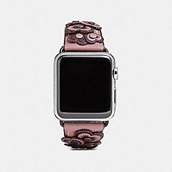 COACH W1557+DRO++WMN - APPLE WATCH® STRAP WITH HEART APPLIQUE DUSTY ROSE
