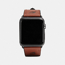 COACH W1559+SAD++WMN Apple Watch® Strap SADDLE
