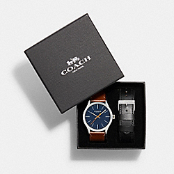 COACH W1583 Baxter Watch Gift Set, 39mm MULTI