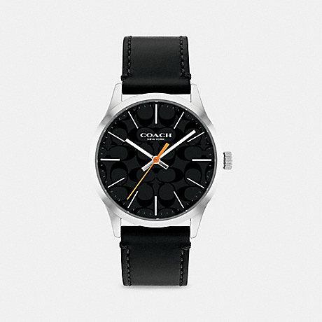 COACH W1584 BAXTER WATCH, 39MM BLACK