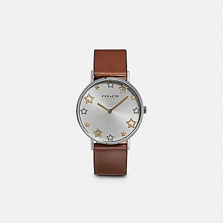 COACH W1605 PERRY WATCH, 36MM SADDLE