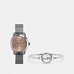 COACH W1608 Lex Watch Gift Set, 32mm STAINLESS STEEL